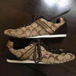 Brown Coach Tennis shoes. Brand new!!